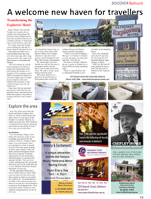 Bathurst Explorers Motel in Motel Discover Magazine